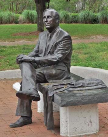 President T.K. Wetherell Statue
