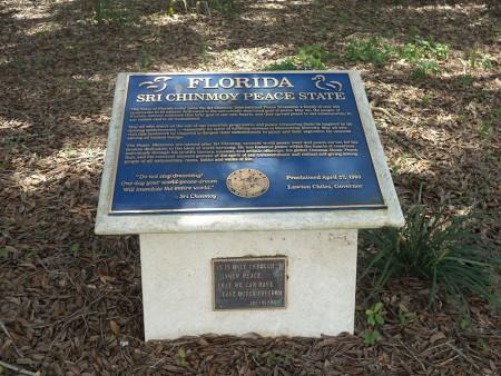 Florida Sri Chinmoy Peace State Marker