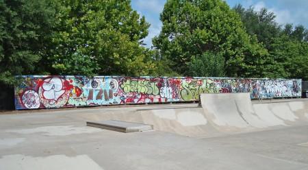 Skate Park Tag Wall