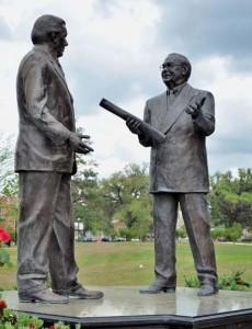 President Bernie Sliger and President Doak Campbel...