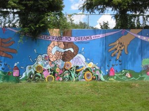 Hold Fast to Dreams Mural