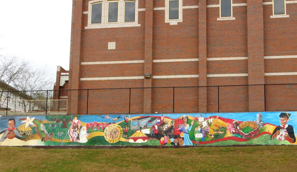 Fsu Timeline Mural Tallahassee Arts Guide