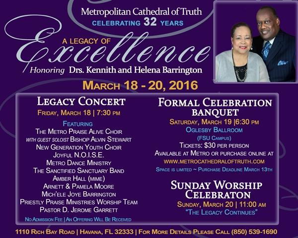 Metropolitan Cathedral of Truth Pastor Appreciation ...