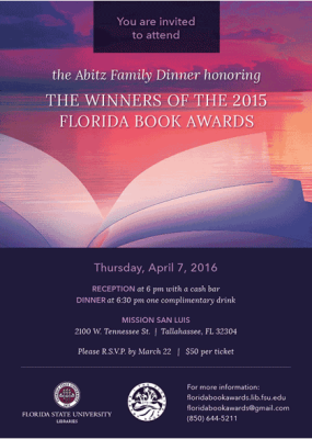 The Abitz Family Dinner honoring the 2015 Florida Book Awards Winners