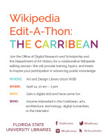 Wikipedia Edit-A-Thon: The Caribbean