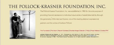 The Pollock-Krasner Foundation, Inc. Grant