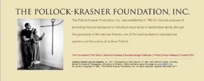 The Pollock-Krasner Foundation, Inc. Grant