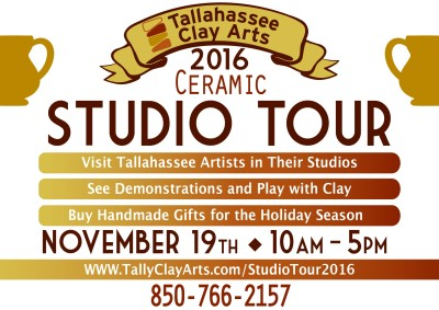 Tallahassee Clay Arts Tour of Studios