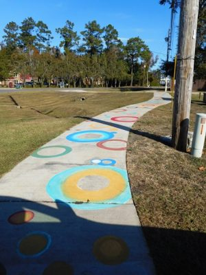 Market District Sidewalk Painting