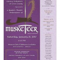 Musketeer! A Readers Theatre Presentation to Benefit Literacy Volunteers of Leon County