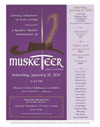 Musketeer! A Readers Theatre Presentation to Benefit ...