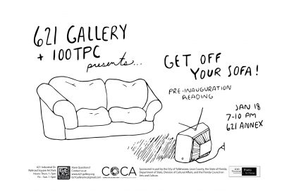 621 Gallery & 100TPC presents...Get Off Your Sofa! Pre-Inauguration Reading