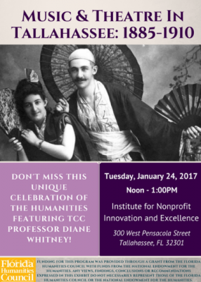 Music and Theatre in Tallahassee: 1885-1910