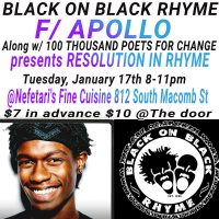 Black on Black Rhyme & 100 Thousand Poets for Change-Resolution in Rhyme-