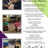 The Da Capo Players: Beginning Violin Group Class
