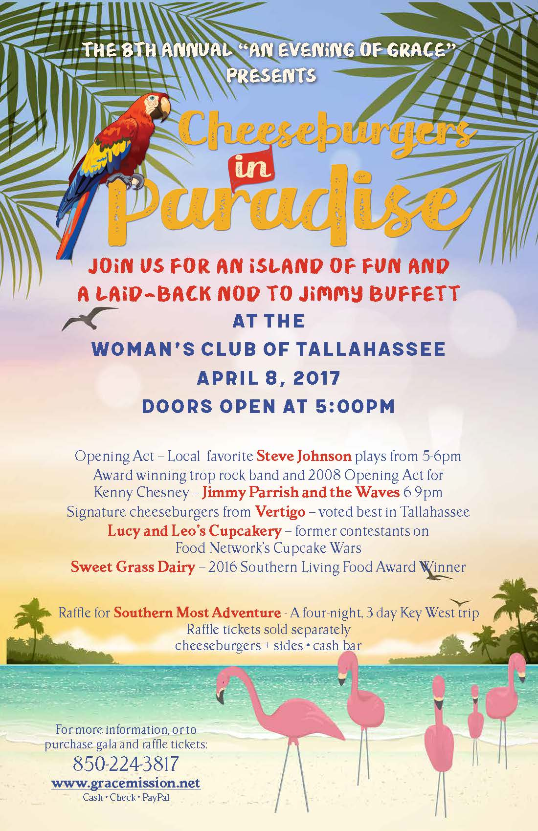 Cheeseburgers in Paradise presented by Grace Mission Church