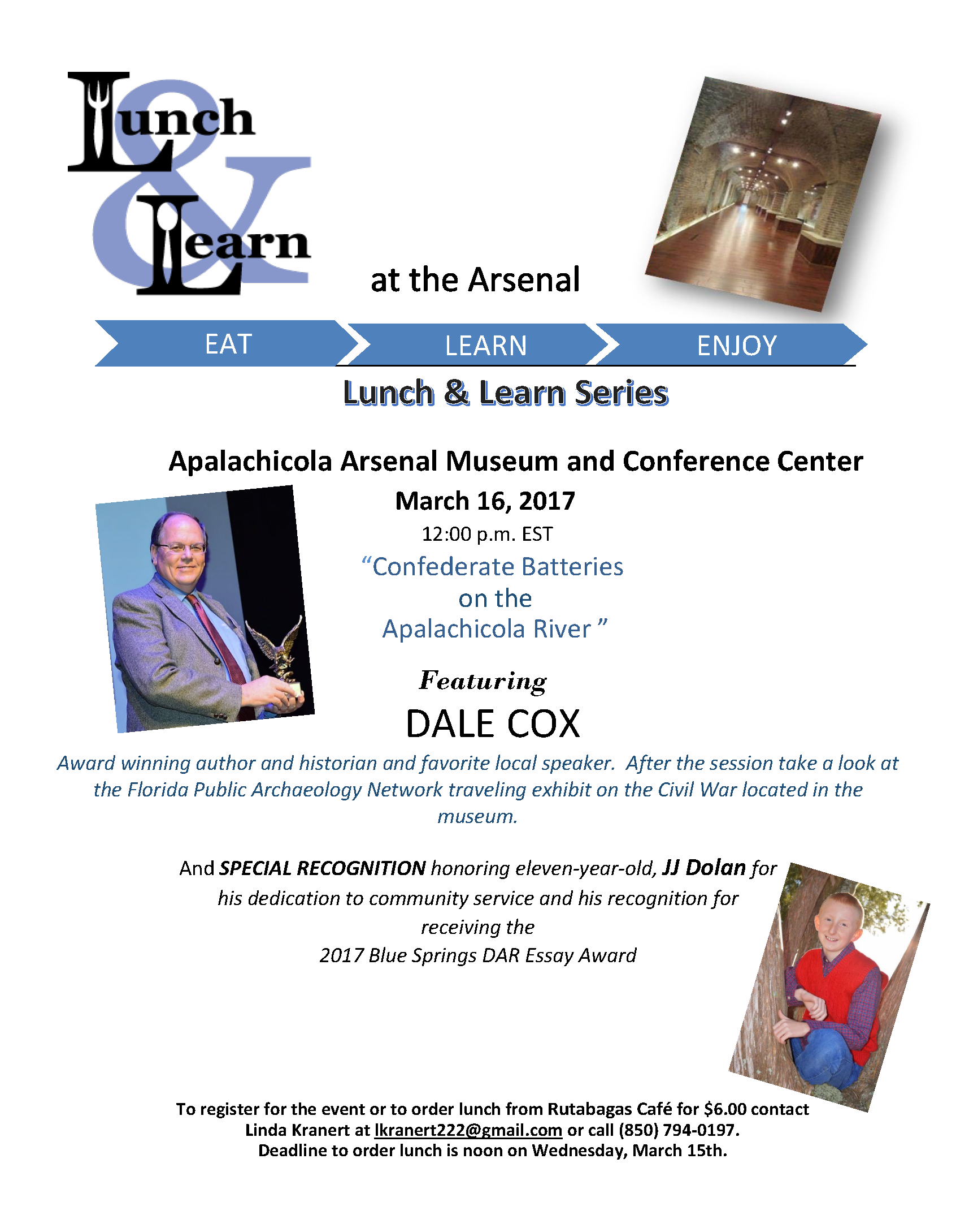 Lunch And Learn At The Apalachicola Arsenal Museum