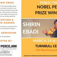 PeaceJam Southeast Public Talk with Nobel Peace Prize Winner Shirin Ebadi