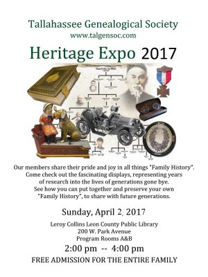 primary-Tallahassee-Genealogical-Society-s-Family-Heritage-Expo-1489524317