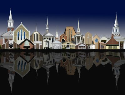 """Opening reception for """"Cityscapes and Other Images"""" at Jefferson Arts Gallery Saturday May 6, 2017"""