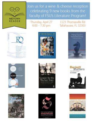 Reception: A Celebration of Books written by FSU's Literature faculty
