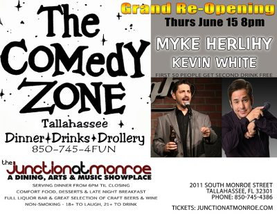 Comedy Zone Grand Re-Opening with Myke Herlihy & Kevin White