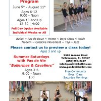 Pas de Vie Ballet's 2017 Fall Classes