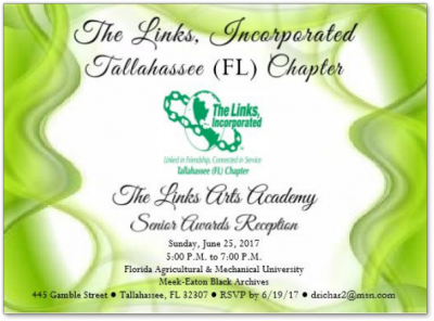 Tallahassee Chapter of the Links, Incorporated: Arts Facet Senior Awards Reception