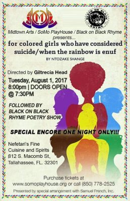 for colored girls - encore presentation followed by black on black rhyme show