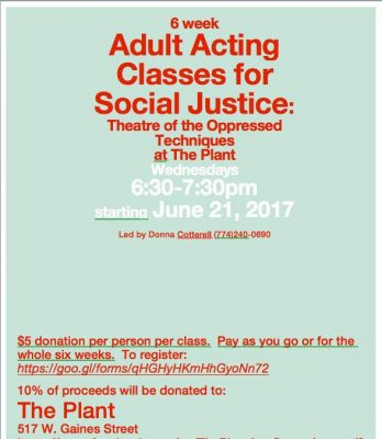 6 Week Adult Acting Classes for Social Justice Wednesdays