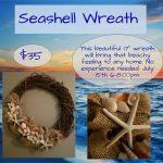Seashell Wreath Class at Pottery Frenzy