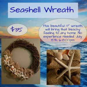 Seashell Wreath Class at Pottery Frenzy