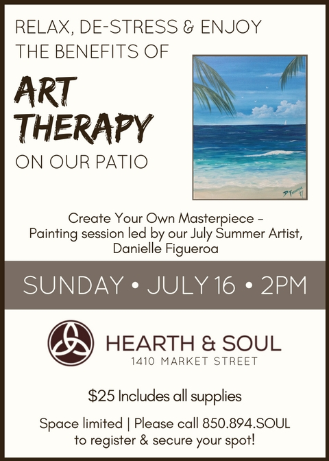 Art Therapy on the Patio presented by Hearth Soul Tallahassee