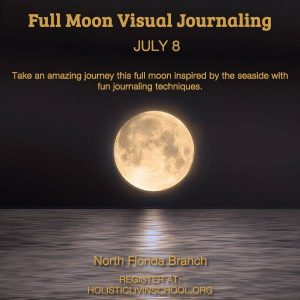 Full Moon Visual Journaling with Honey at the Lichgate Cottage