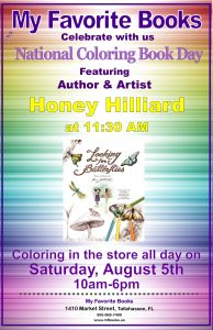 National Coloring Book Day with Honey Hilliard