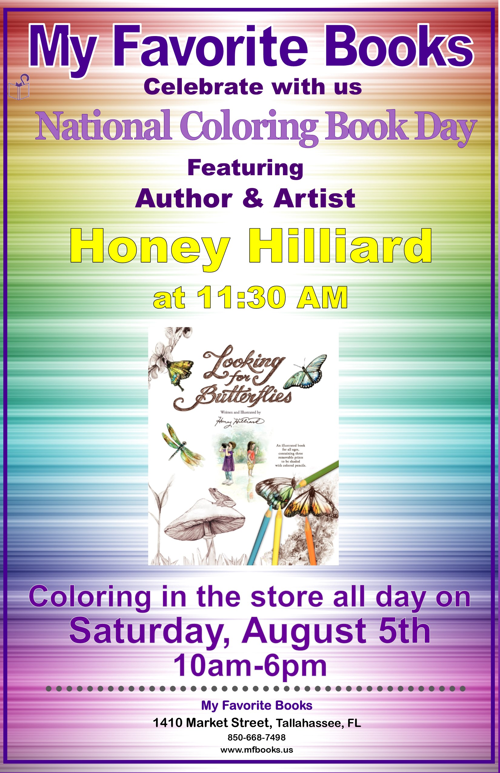 National Coloring Book Day With Honey Hilliard Presented By My
