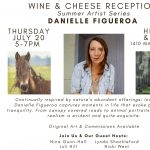 Reception for July Feature Artist Danielle Figueroa