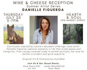 Reception for July Feature Artist Danielle Figueroa
