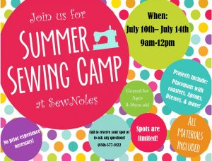 Youth Sewing Camp