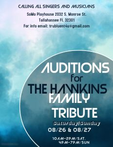 Auditions - Singers for Tribute Concert