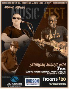 Music Fest featuring Otis Redding III, Johnnie Marshall and Ralph Roddenbery in Cairo GA