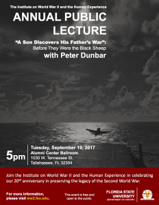 """Annual Public Lecture, """"A Son Discovers His Father's War"""": Before They Were the Black Sheep"""