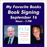 My Favorite Books Local Author Peak: Secrets from the New Science of Expertise Book Signing