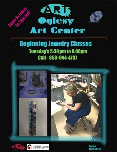 Beginning Jewelry Classes at the Oglesby Art Center!