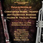 Faculty Recital – Christopher Moore, trumpet and Jeff Keesecker, bassoon