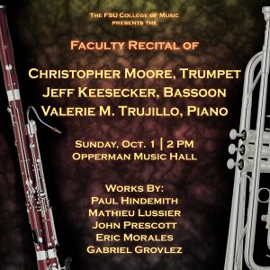 Faculty Recital – Christopher Moore, trumpet and Jeff Keesecker, bassoon