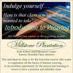 Weaving classes at Millstone