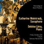 Faculty Solo Recital – Katherine Weintraub, saxophone