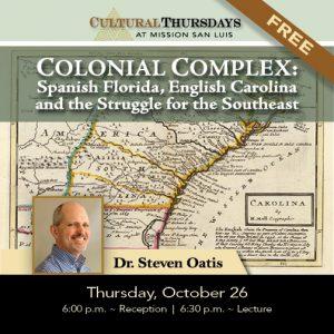 Free Lecture on Spanish Florida, English Carolinas