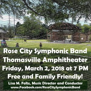 Rose City Symphonic Band at the Thomasville Amphitheater